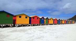 Beach houses. In Muizenberg in South Africa Royalty Free Stock Photography