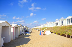 Beach houses in the Netherlands Royalty Free Stock Photography