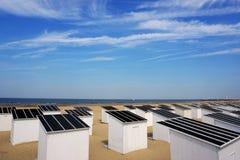Beach houses, North Sea beach Stock Photos