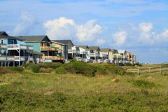 Beach houses Stock Images