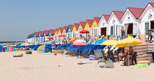 Beach houses vlissingen Stock Photography