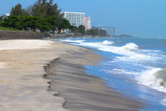 Beach in huahin Thailand Stock Image
