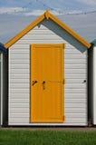 Beach hut. On Paignton beach Stock Photo