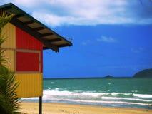 Beach Hut. Photo of a surf lifesaving beach hut at Mission Beach - Australia Stock Photos