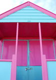 Beach hut. Very colorful beach hut at Southwold, England Royalty Free Stock Photos
