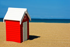 Beach hut. In a sunny summer day Royalty Free Stock Image