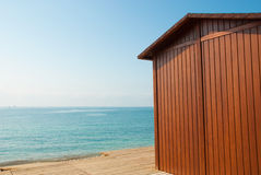 Beach hut Stock Images
