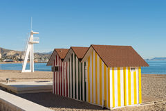 Beach hut Stock Images