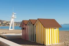 Beach hut. At Campello resort, Costa Blanca,  Spain Stock Images
