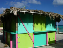 Beach Hut. Colorful beach hut, St. George, Bermuda royalty free stock images