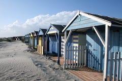 Beach Hut. S on the British South Coast Stock Photos