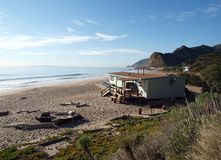 Beach Hut. A lifeguard office building on a California Public Beach Stock Images