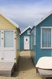 Beach Hut Alley Stock Image