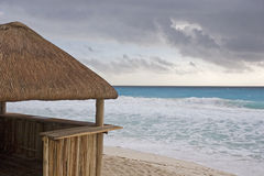 Beach Hut And Stormy Sea Royalty Free Stock Image