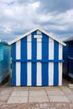 Beach Hut Blue White Stripes Royalty Free Stock Image