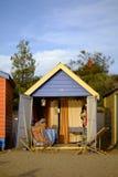 Beach hut at Brighton. A beach hut in Brighton suburb in Melbourne, Victoria, Australia Stock Photo