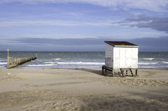 Beach hut in Calais-France Royalty Free Stock Photography