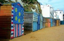 Beach Hut colour stock photos