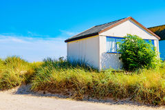 Beach hut covered with grass Royalty Free Stock Photography