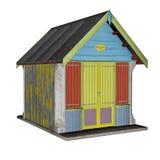 Beach hut - 3D render Stock Photos