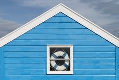 Beach Hut Detail. Detail of a beach hut with a window at Southwold, Suffolk, UK Stock Photos