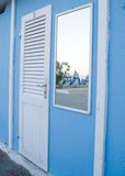 Beach hut door Royalty Free Stock Photo