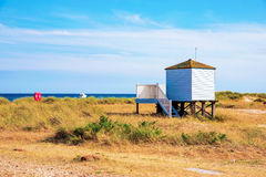 Beach hut  in grassland Stock Photography