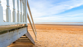 Beach hut horizon Stock Photos