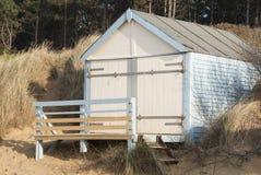 Beach Hut at Hunstanton, Norfolk, UK. A single beach hut in the sand dunes at Hunstanton, Norfolk, UK Stock Image