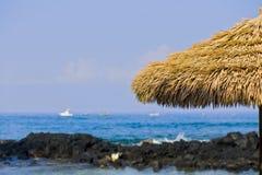 Beach Hut on Kona Bay Big Island of Hawaii Stock Photos