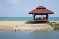 Beach hut lami beach koh samui thailand. Beach hut used for thai massage on lamai beach sand spit koh samui island in the gulf of thailand Royalty Free Stock Photo