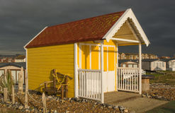 Beach Hut at Lancing, West Sussex, England Stock Images