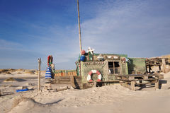 Beach Hut made of Flotsam Royalty Free Stock Image
