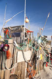 Beach Hut made of Flotsam Royalty Free Stock Photos