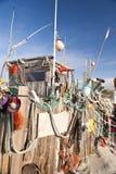 Beach Hut made of Flotsam Royalty Free Stock Photos