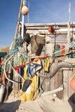 Beach Hut made of Flotsam Royalty Free Stock Images