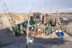 Beach Hut made of Flotsam Stock Photography