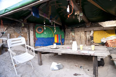 Beach Hut made of Flotsam Stock Image