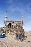 Beach Hut made of Flotsam Royalty Free Stock Image