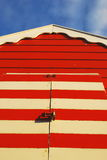 Beach hut with red door Royalty Free Stock Images