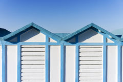 Beach hut in Rimini, Italy Stock Image