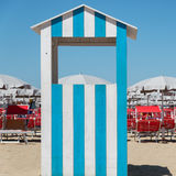 Beach hut in Rimini, Italy Royalty Free Stock Photos