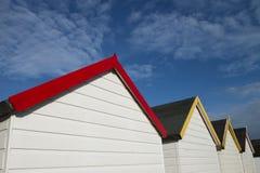 Beach Hut Roof Lines. Beach Huts at Broadsands, near Paignton, Devon, UK Stock Images