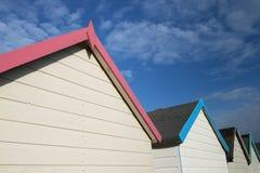 Beach Hut Roof Lines. Beach Huts at Broadsands, near Paignton, Devon, UK Stock Image