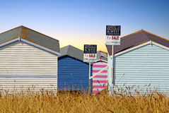 Beach hut sales Royalty Free Stock Photo