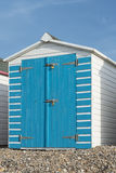 Beach Hut at Seaton, Devon, UK. Stock Photos