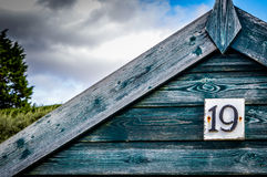 Beach Hut 19 Stock Images