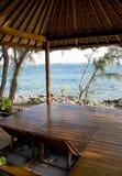 Beach hut on tropical island Royalty Free Stock Photo