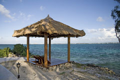 Beach hut on tropical island Royalty Free Stock Image