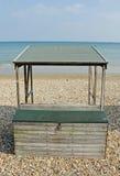 Beach Hut. An unusual form of beach hut from Weymouth in Dorset, England Stock Photos